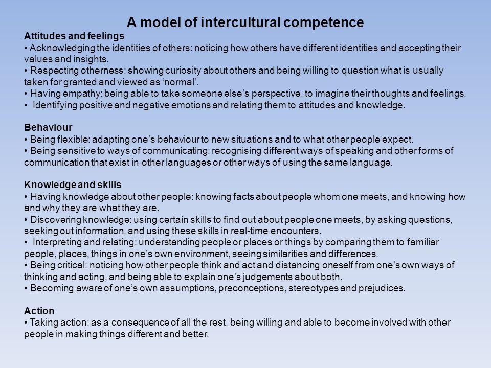 A model of intercultural competence