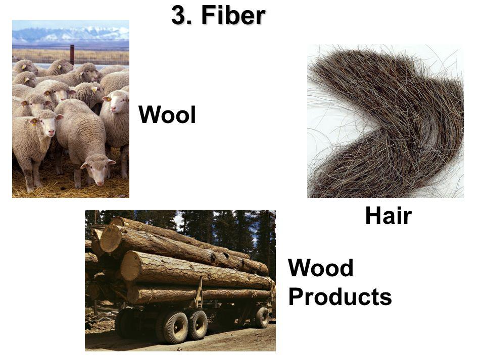 3. Fiber Wool Hair Wood Products