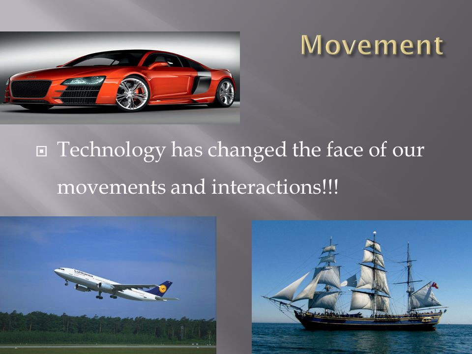 Movement Technology has changed the face of our movements and interactions!!!