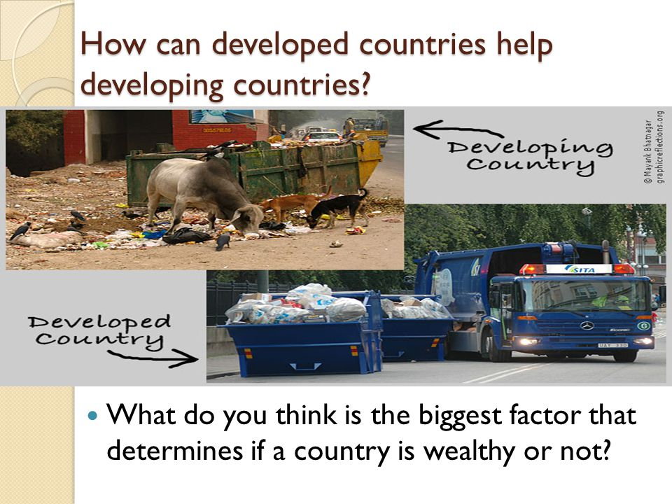 How can developed countries help developing countries