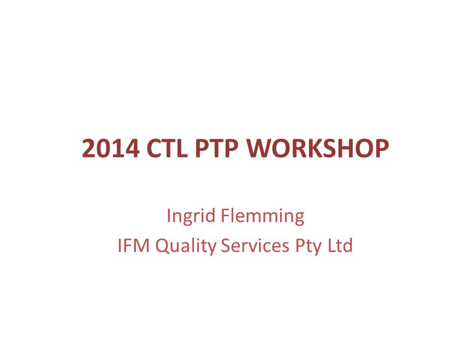 Ingrid Flemming IFM Quality Services Pty Ltd