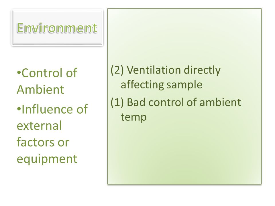 Environment Control of Ambient