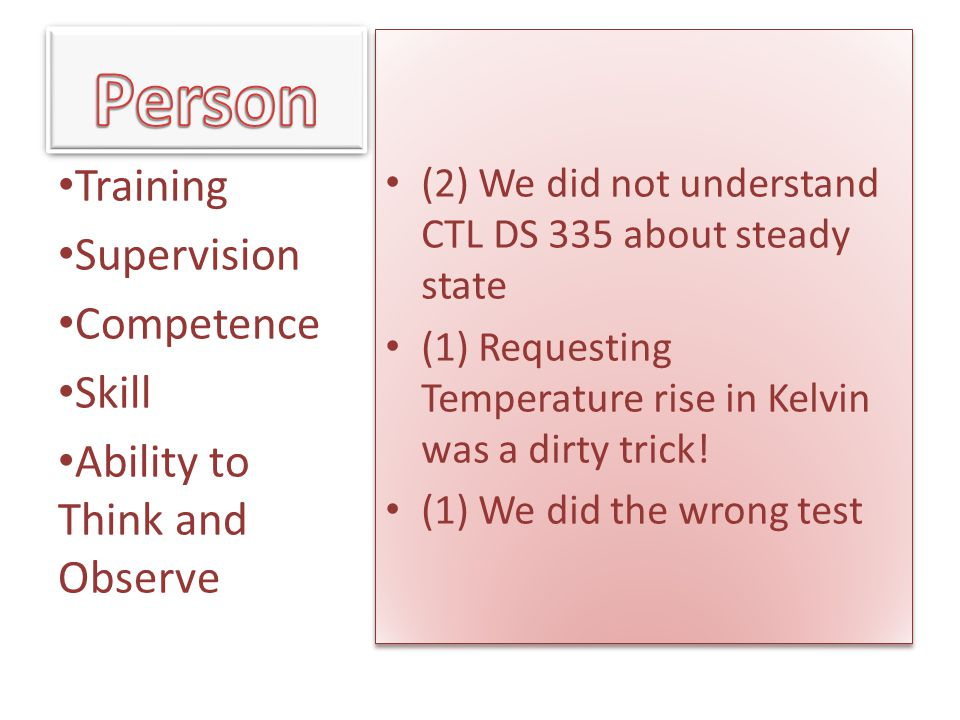 Person Training Supervision Competence Skill
