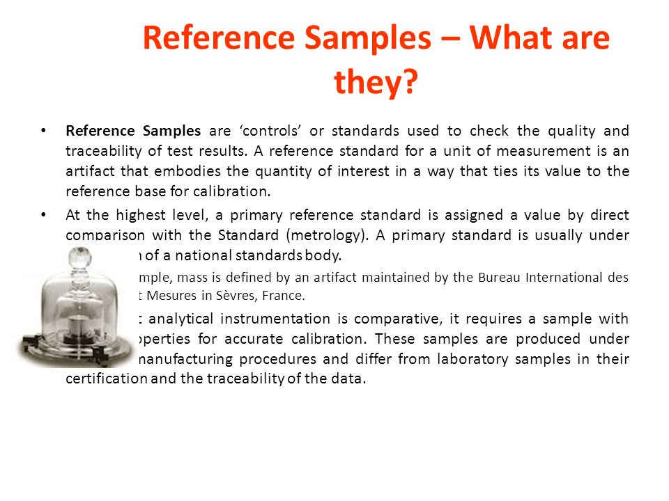 Reference Samples – What are they