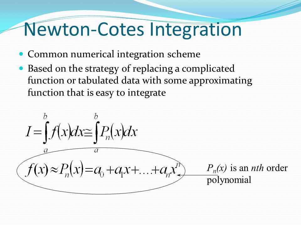 Newton-Cotes Integration