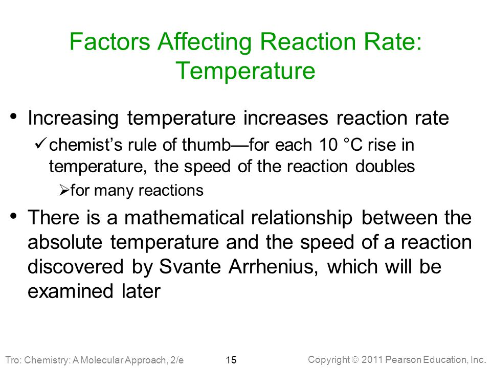 Factors Affecting Reaction Rate: Temperature