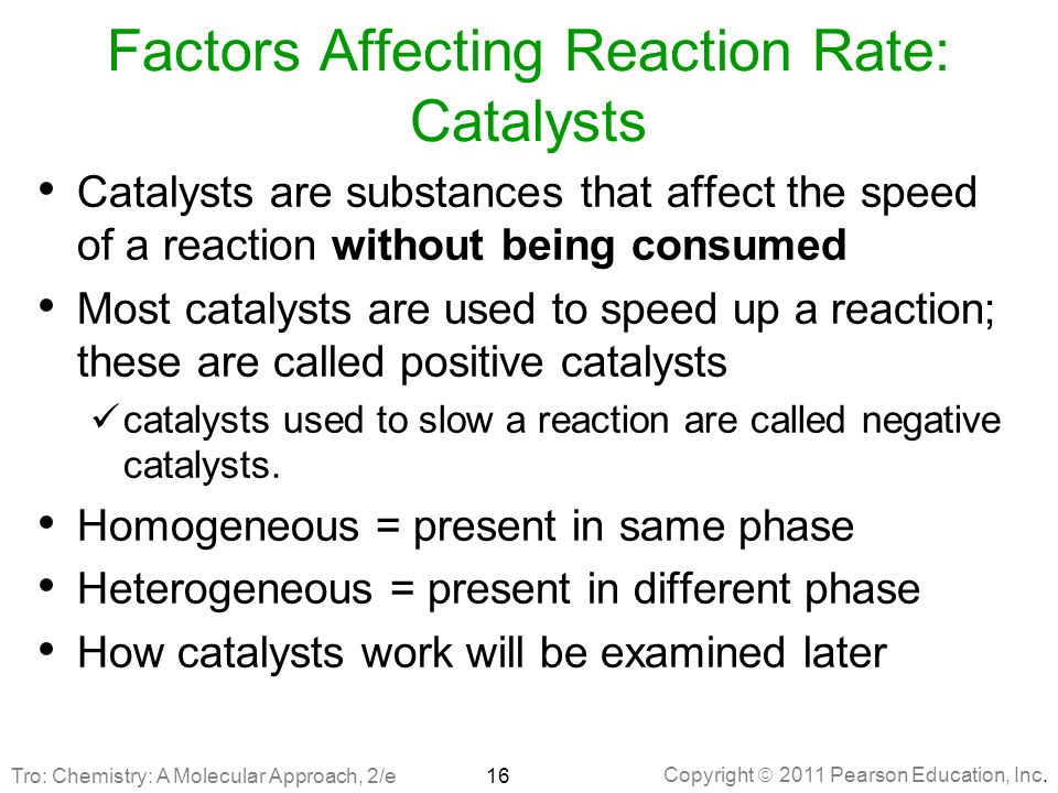 Factors Affecting Reaction Rate: Catalysts