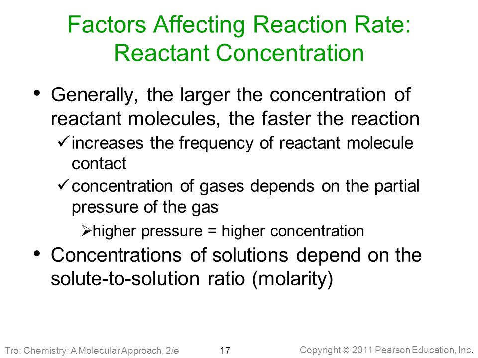 Factors Affecting Reaction Rate: Reactant Concentration