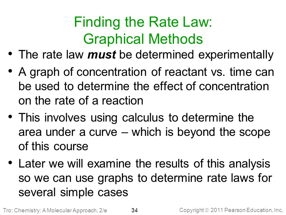 Finding the Rate Law: Graphical Methods
