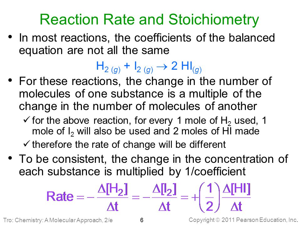 Reaction Rate and Stoichiometry