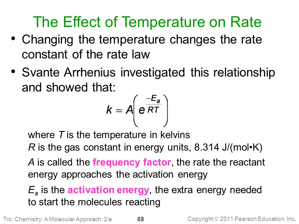 The Effect of Temperature on Rate