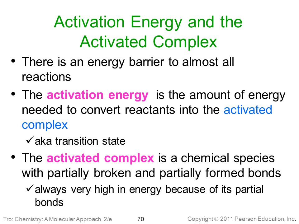 Activation Energy and the Activated Complex