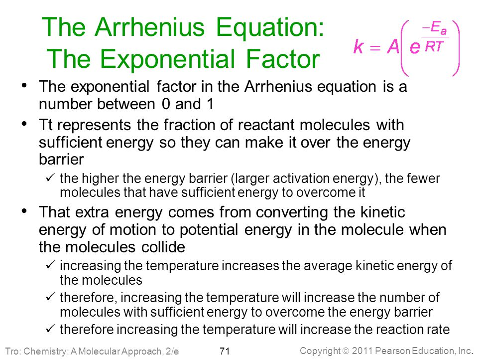 The Arrhenius Equation: The Exponential Factor