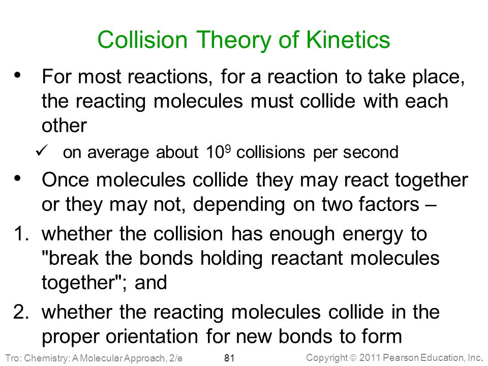 Collision Theory of Kinetics