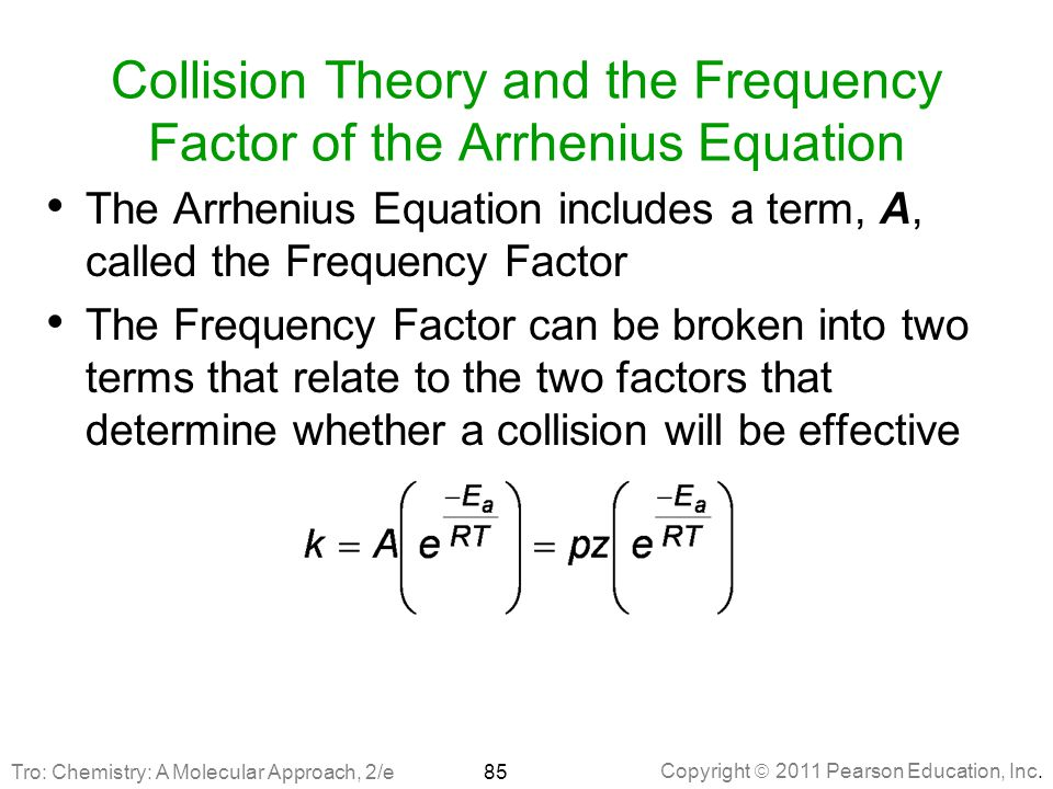 Collision Theory and the Frequency Factor of the Arrhenius Equation