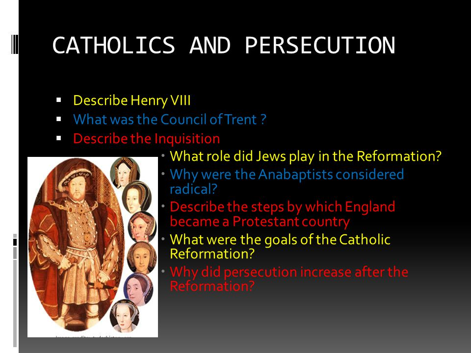 CATHOLICS AND PERSECUTION