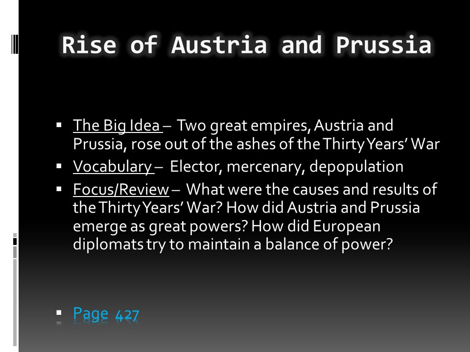 Rise of Austria and Prussia