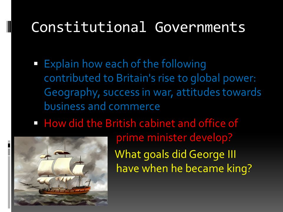 Constitutional Governments