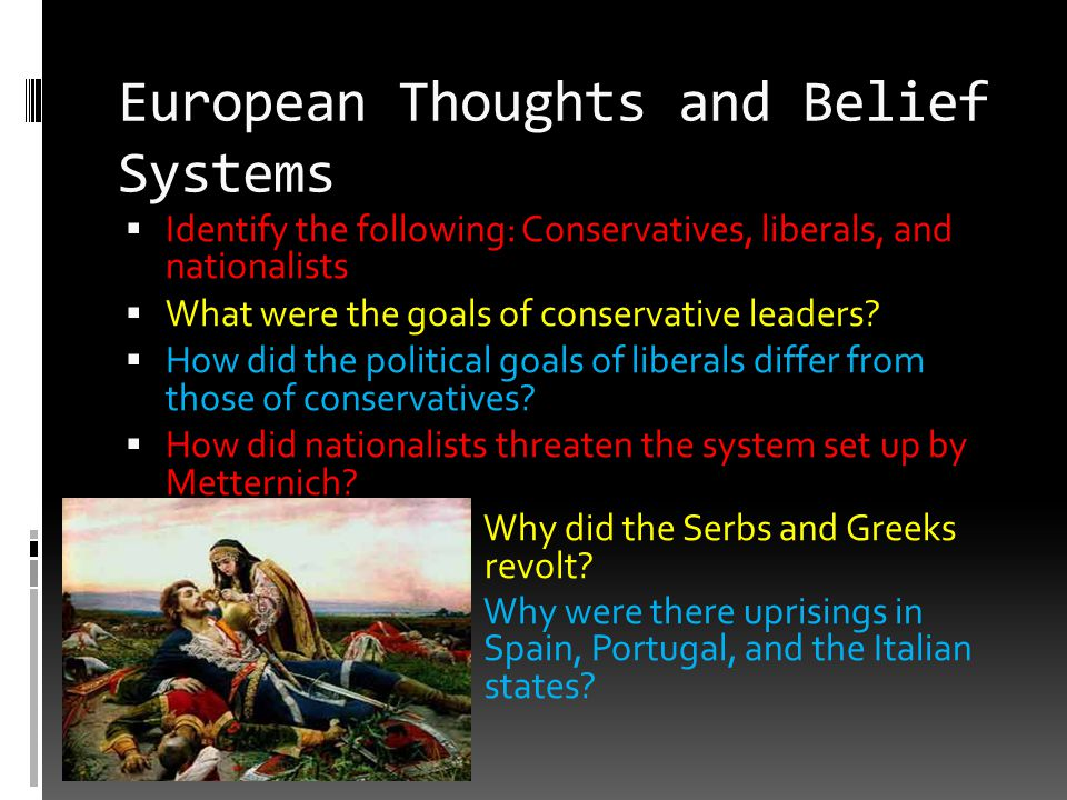 European Thoughts and Belief Systems