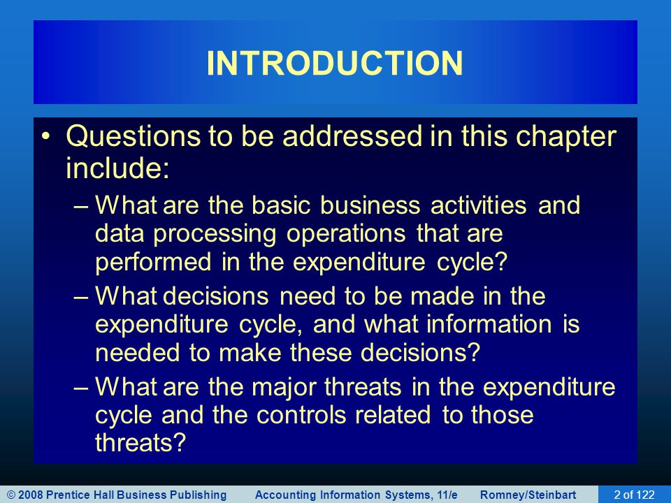 INTRODUCTION Questions to be addressed in this chapter include:
