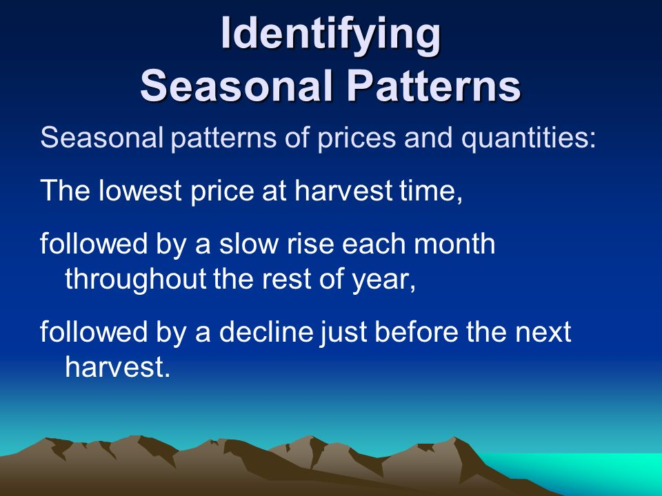 Identifying Seasonal Patterns