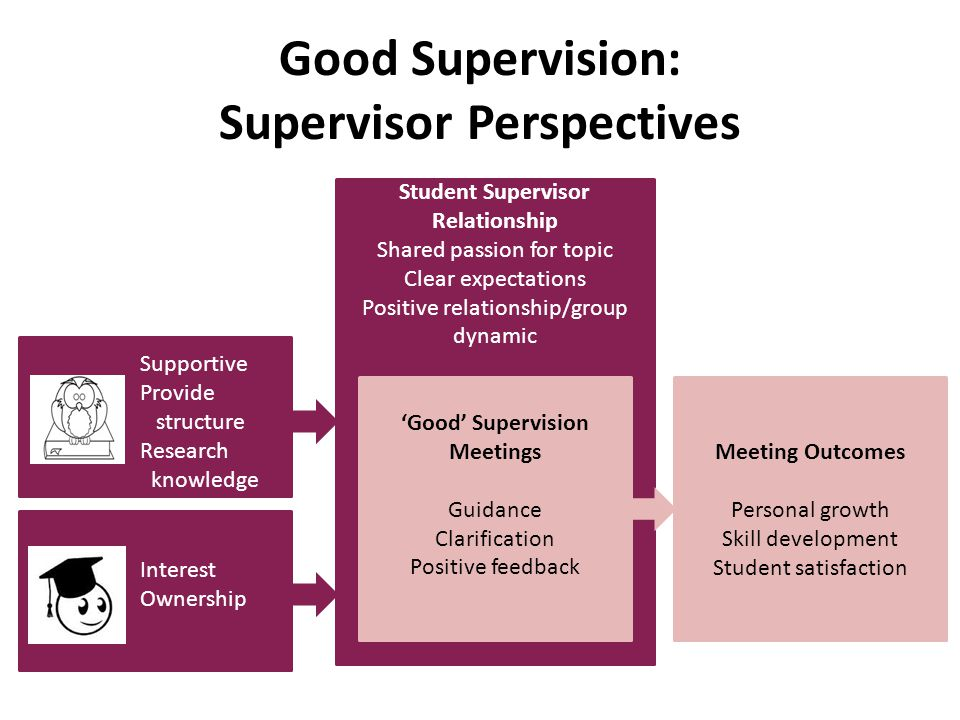 Good Supervision: Supervisor Perspectives