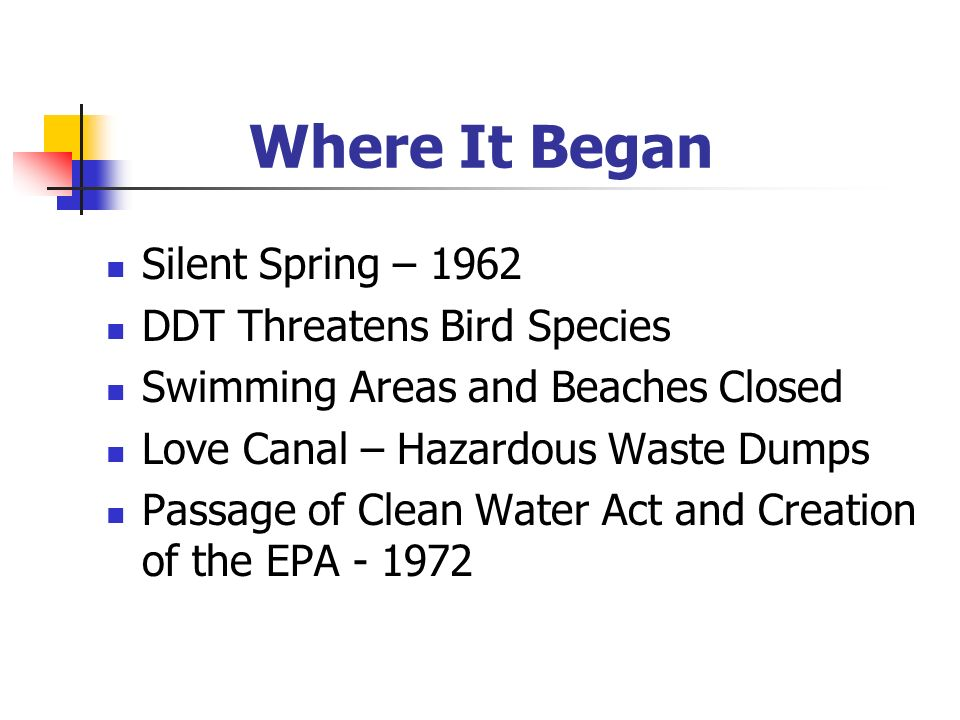 Where It Began Silent Spring – 1962 DDT Threatens Bird Species
