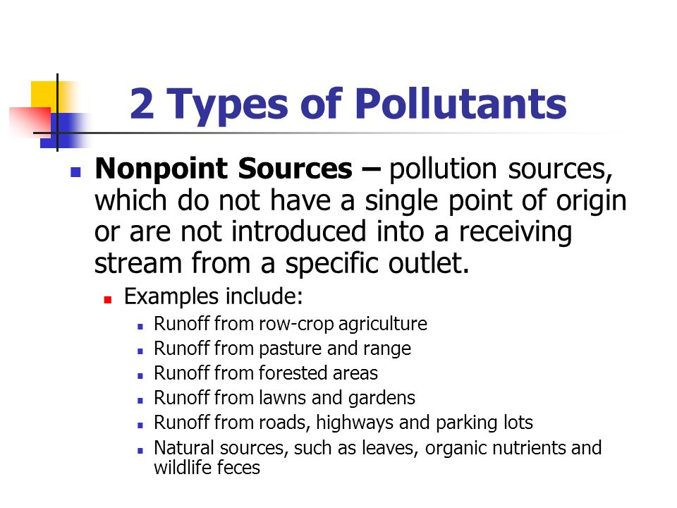 2 Types of Pollutants