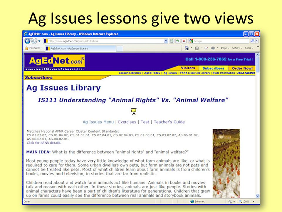 Ag Issues lessons give two views