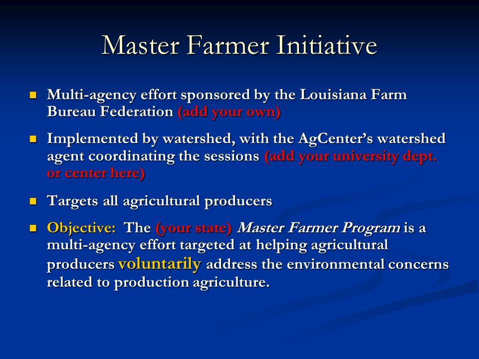 Master Farmer Initiative
