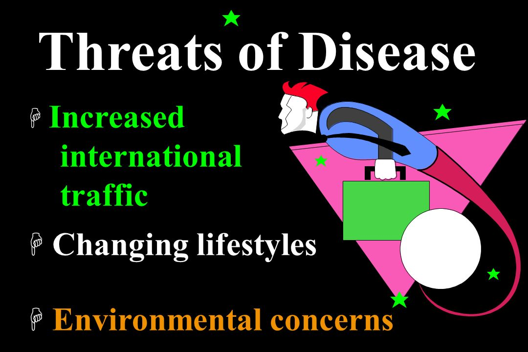 Threats of Disease international traffic Changing lifestyles