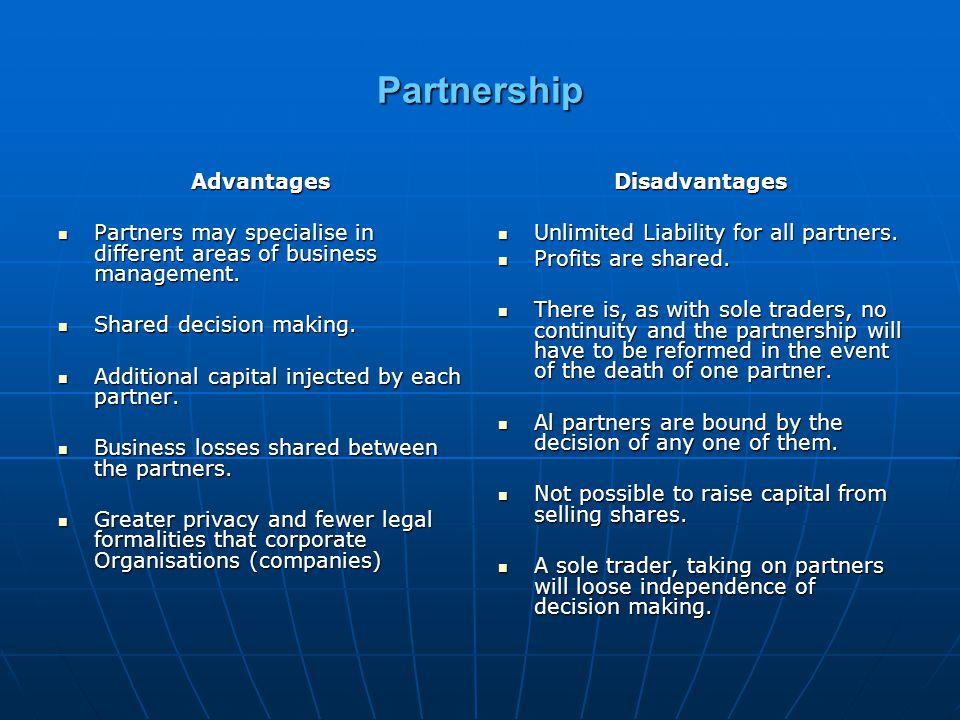 Partnership Advantages