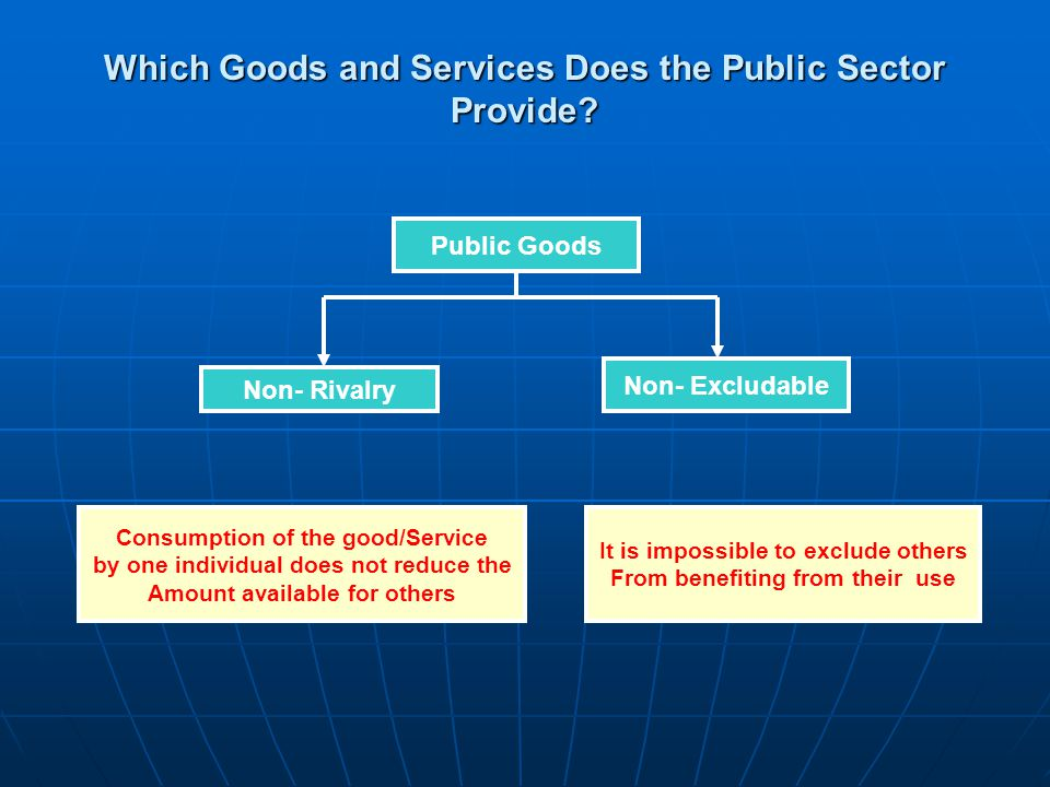 Which Goods and Services Does the Public Sector Provide