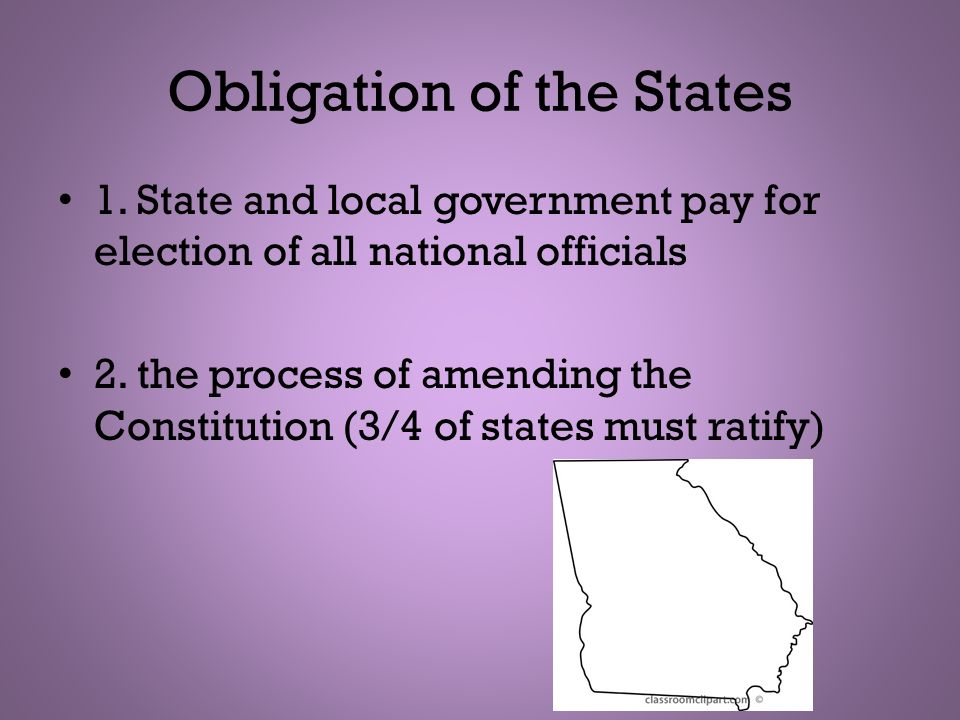 Obligation of the States