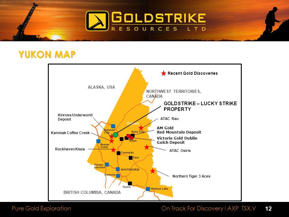 YUKON MAP 12 GOLDSTRIKE – LUCKY STRIKE PROPERTY