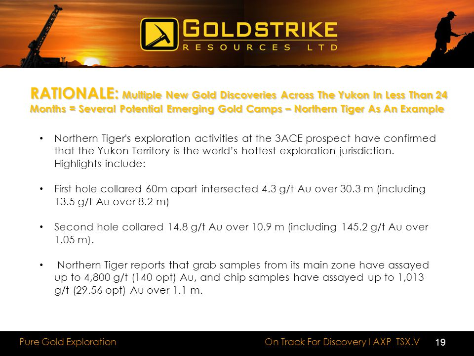 RATIONALE: Multiple New Gold Discoveries Across The Yukon In Less Than 24 Months = Several Potential Emerging Gold Camps – Northern Tiger As An Example