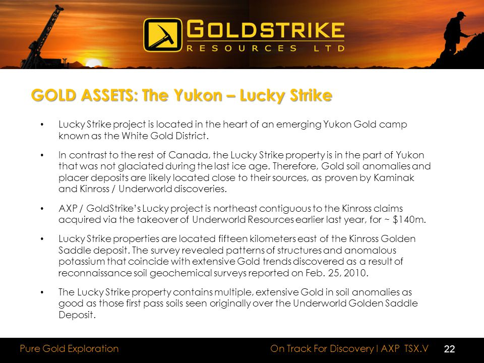 GOLD ASSETS: The Yukon – Lucky Strike