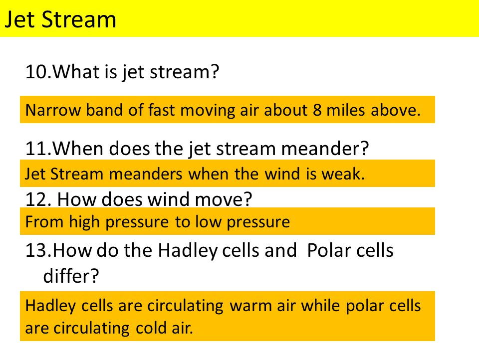 Jet Stream What is jet stream When does the jet stream meander