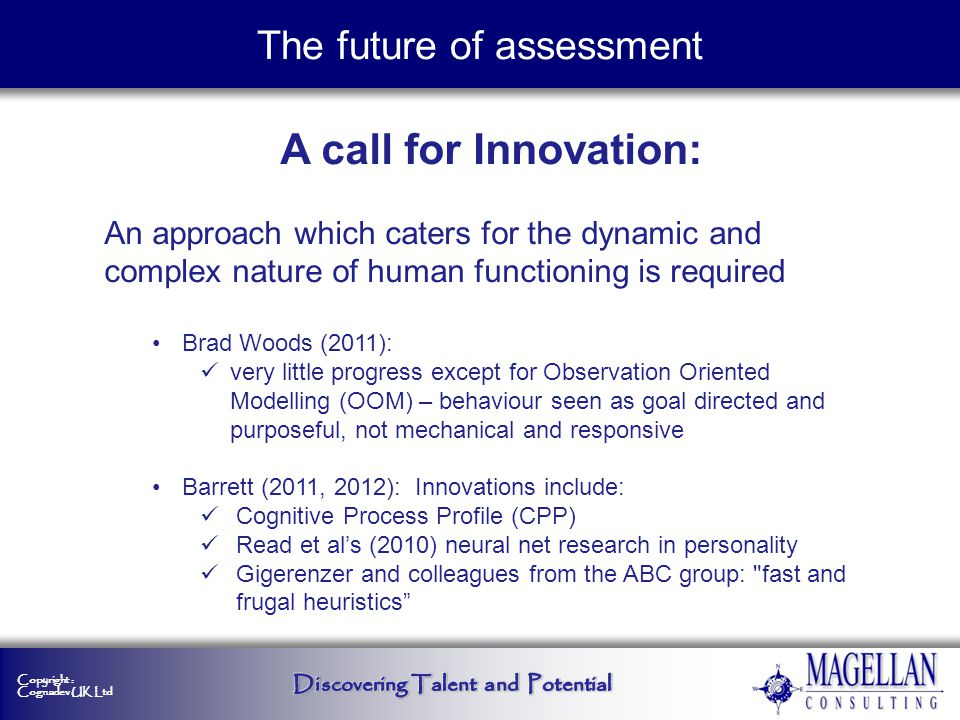 The future of assessment