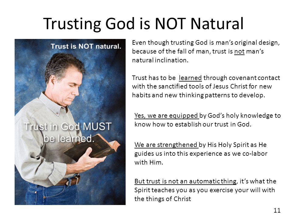 Trusting God is NOT Natural