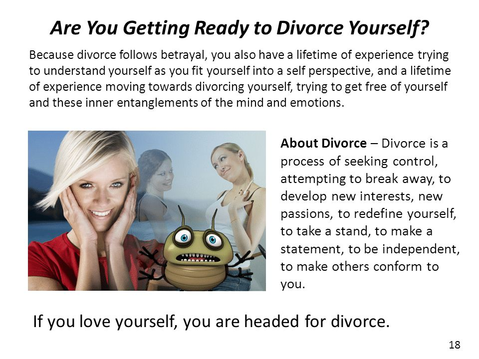 Are You Getting Ready to Divorce Yourself