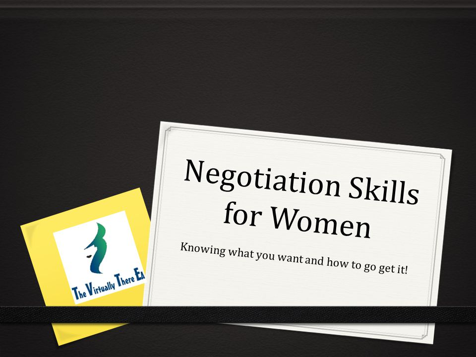Negotiation Skills for Women