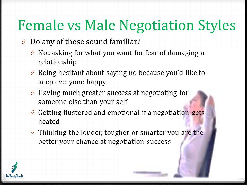 Female vs Male Negotiation Styles