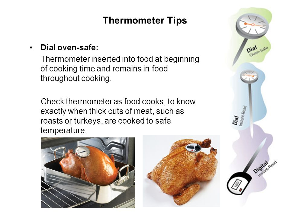 Thermometer Tips Dial oven-safe: