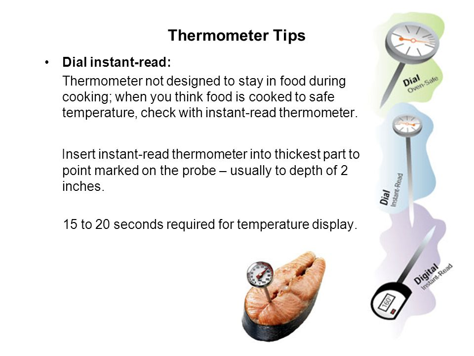 Thermometer Tips Dial instant-read: