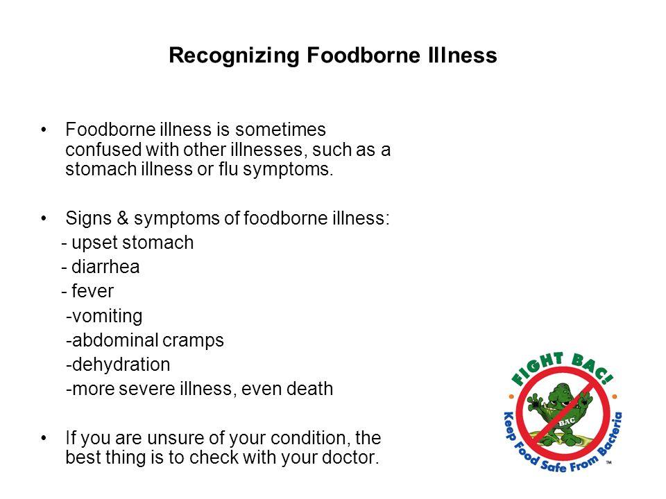 Recognizing Foodborne Illness