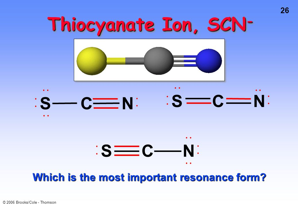 Which is the most important resonance form