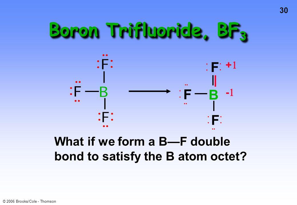 Boron Trifluoride, BF3 F B