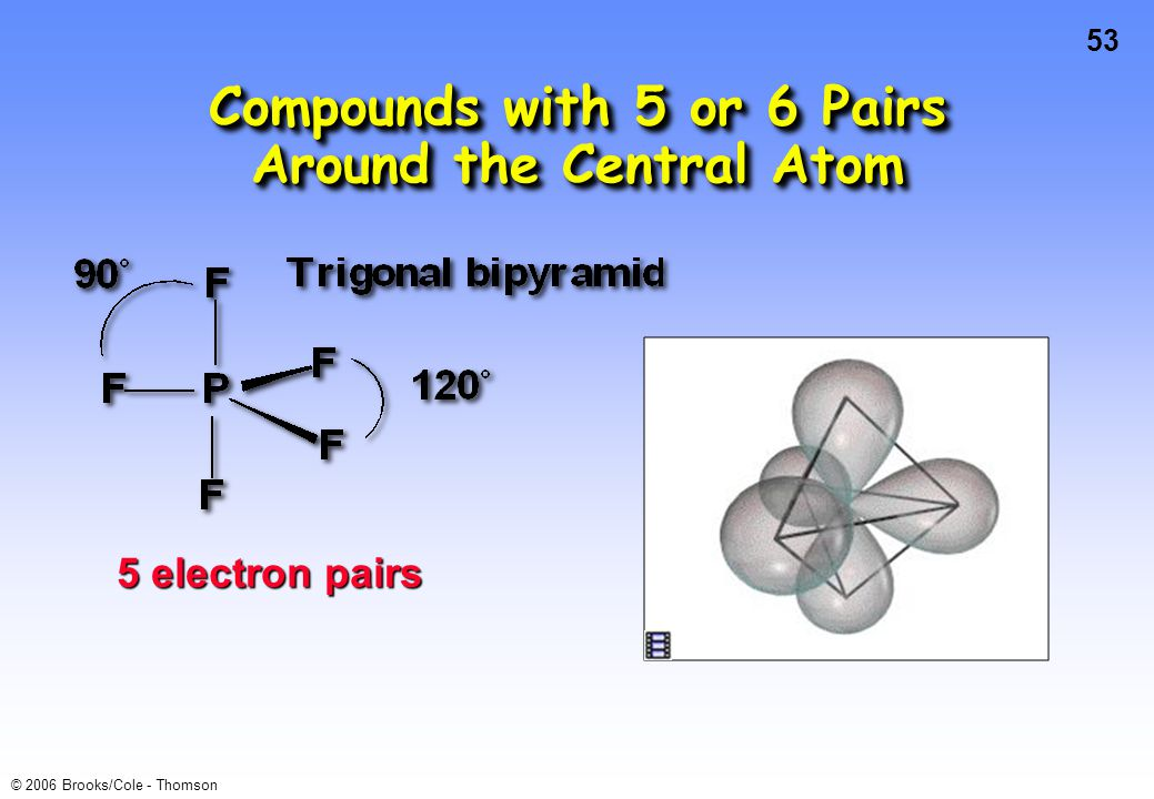 Compounds with 5 or 6 Pairs Around the Central Atom