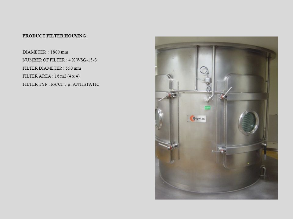 PRODUCT FILTER HOUSING